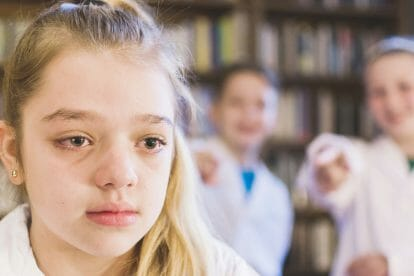 bullied autistic school girl