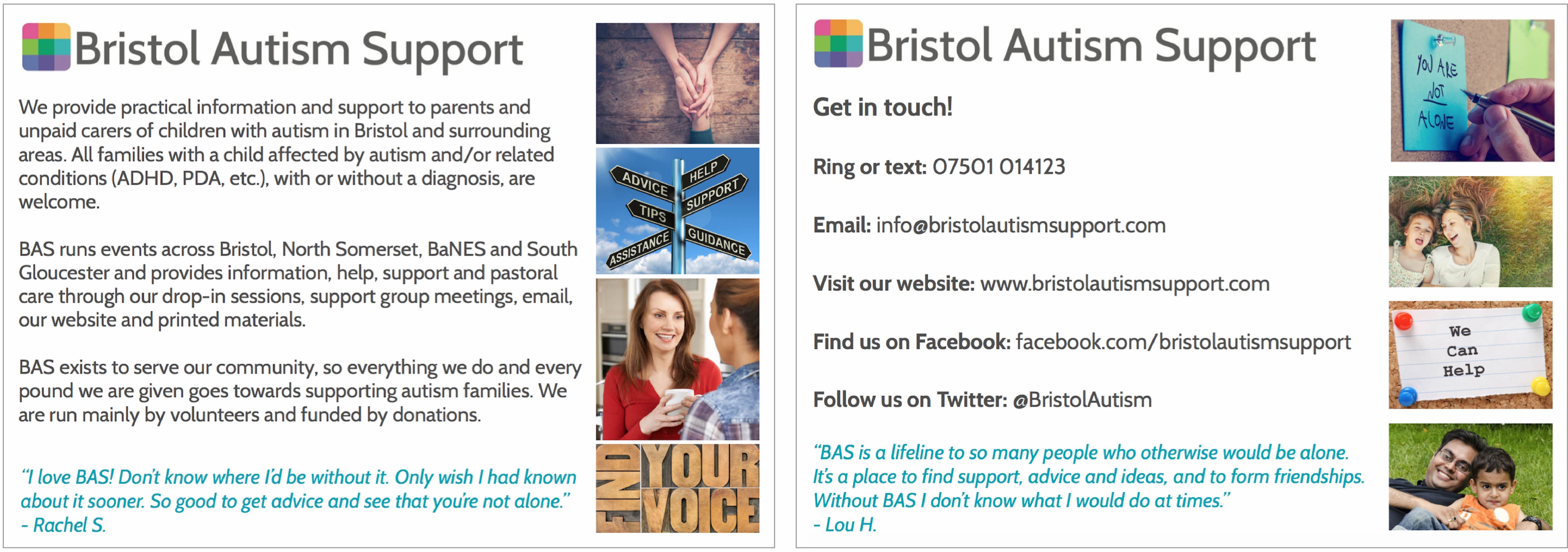 Bristol Autism Support general leaflet