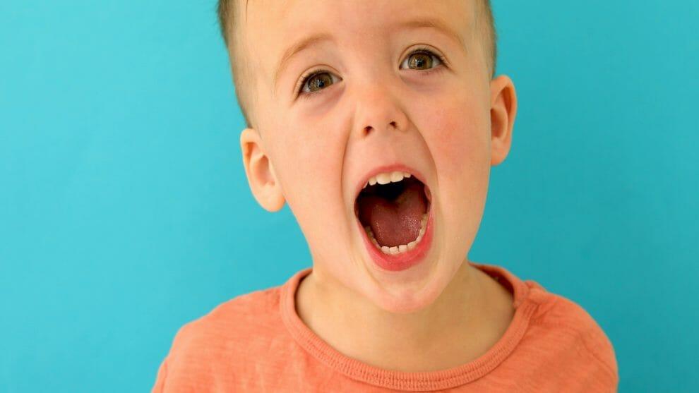 autistic boy screaming