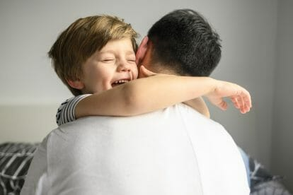 Deep pressure for autistic children