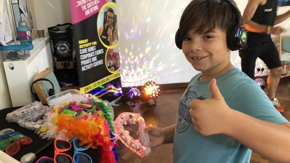 Happy boy at BAS silent disco