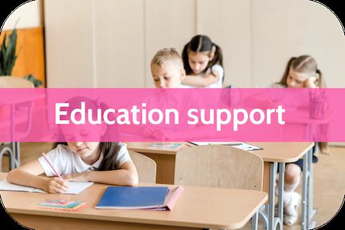 Autism education support for autistic children at school