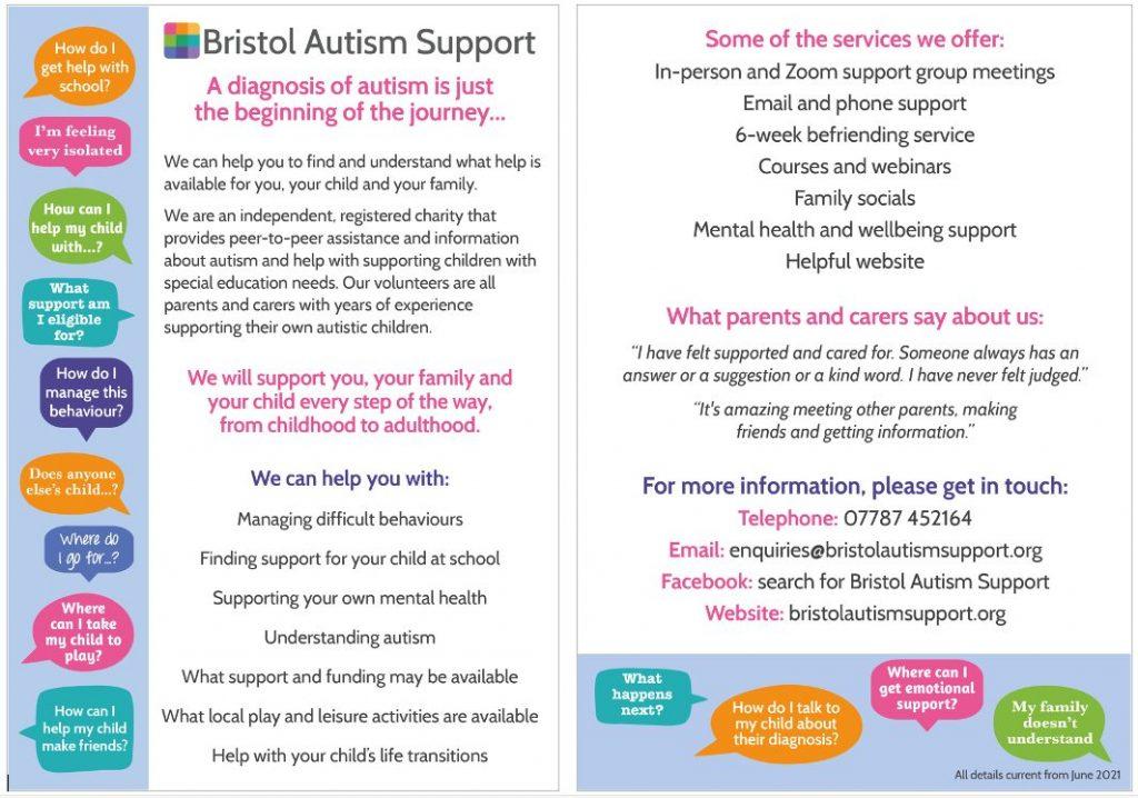 BAS post autism diagnosis leaflet